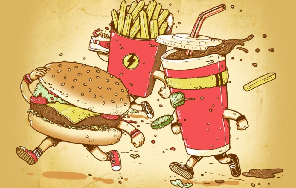 приколы с едой картинки рисунки элемент был