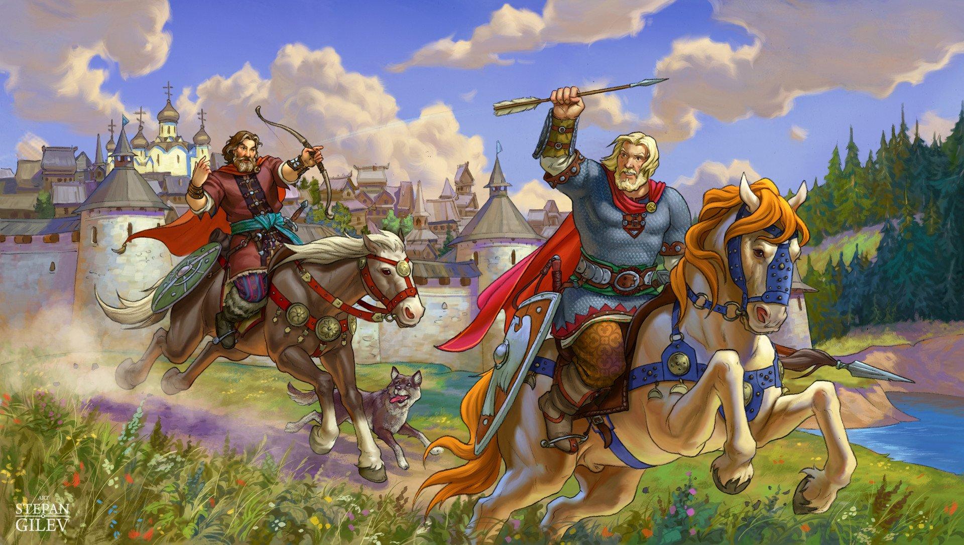 картинка русского богатыря в бою преимущества